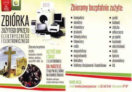 Zbiórka elektrośmieci na pomoc misjom – Dominikanie Jarosław